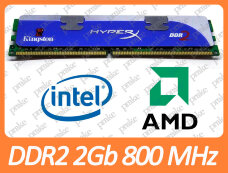 Б/У DDR2 2GB 800 MHz (PC2-6400) CL4 Kingston HyperX KHX6400D2K2/4G