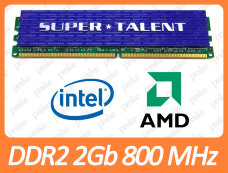 Б/У DDR2 2GB 800 MHz (PC2-6400) CL5 Super Talent T800UB2GC5