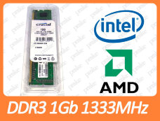 DDR3 1GB 1333 MHz (PC3-10600) Crucial CT12864BA1339